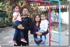 Familia de la pequeña Maite