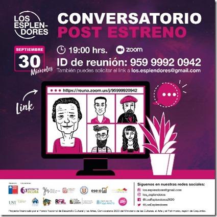 cuarta charla los esplendores fondart CONVERSATORIO