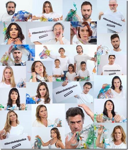 """Veintidós figuras públicas de la cultura y el deporte se unen en la última campaña de Greenpeace para alertar sobre el problema del plástico en Chile. De las 990.000 toneladas que se consumen al año, sólo el 8 por ciento se recicla, siendo este valor el límite de la capacidad del país. """"La solución es reducir el consumo de plásticos de un solo uso. Somos el país de Latinoamérica con mayor generación de basura plástica por habitante"""", explica Soledad Acuña, vocera del movimiento Chile sin plásticos de Greenpeace. Con esta campaña, la organización ambientalista busca lograr medidas que saquen de circulación los plásticos de un solo uso, ofreciendo alternativas libres de plásticos a los consumidores."""